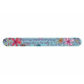 Nail File - Inspirational, Individual: Flowers, Teal