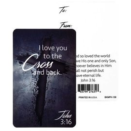 Pocket Card - I Love You to the Cross and Back