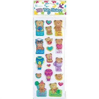 3D Puffy Stickers - Bears