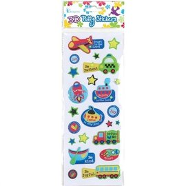 3D Puffy Stickers - Vehicles