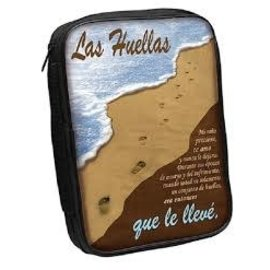 Bible Cover - Footprints Spanish