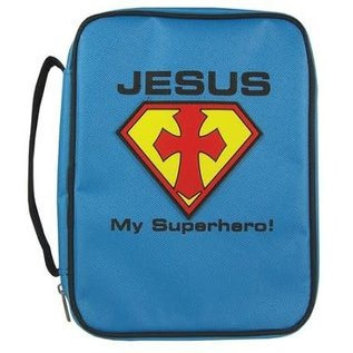 Bible Cover - Jesus My Superhero Kids Large
