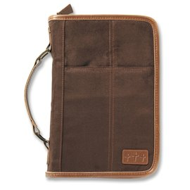 Bible Cover - Aviator, Brown Suede