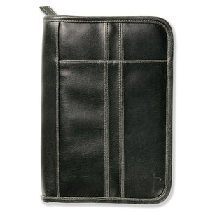Bible Cover - Black with Cross