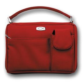 Bible Cover - Red with Pockets