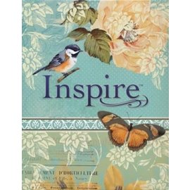 NLT Inspire Journaling Bible, Teal Hardcover