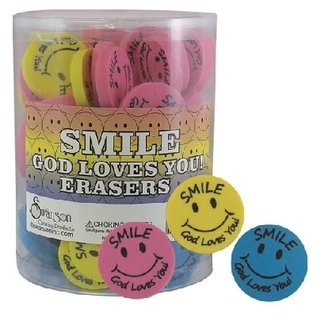 Eraser - Round Smiley Face