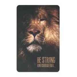 Pocket Card - Be Strong (Lion)