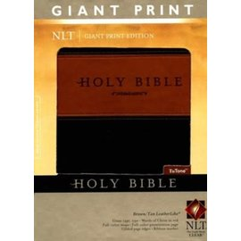 NLT Giant Print Bible, Brown/Tan LeatherLike