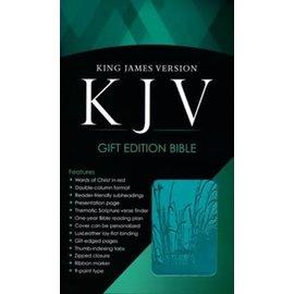KJV Gift Bible, Turquoise LuxLeather w/zipper