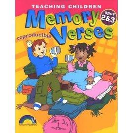 Teaching Children Memory Verses, Ages 2-3 (Reproducible)