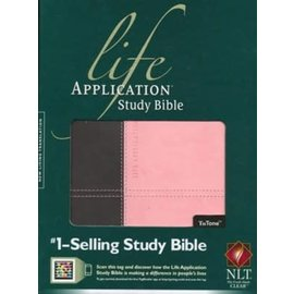 NLT Life Application Study Bible, Brown/Pink LeatherLike, Indexed