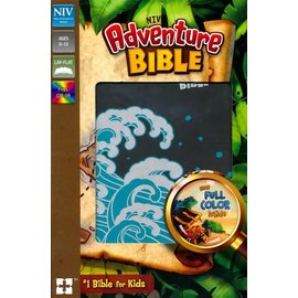 NIV Adventure Bible, Gray/Wave Leathersoft