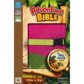 NIV Adventure Bible, Pink/Green Leathersoft