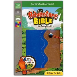 NIrV Adventure Bible for Early Readers, Blue/Tan Leathersoft
