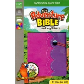 NIrV Adventure Bible for Early Readers, Pink/Purple Leathersoft