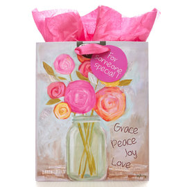 Gift Bag - Grace, Peace, Love, Joy, Medium