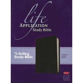 NKJV Life Application Study Bible, Black/Onyx LeatherLike