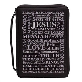 Bible Cover - Names of Jesus, Black