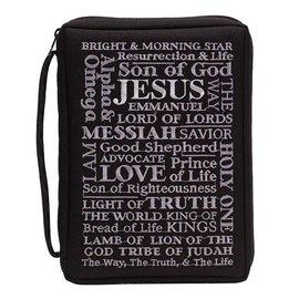Bible Cover - Names of Jesus, Black
