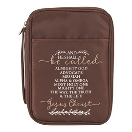 Bible Cover - Names of Jesus, Brown
