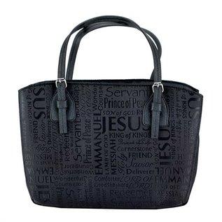 Bible Cover - Names of Jesus, Black, Purse
