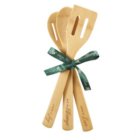 Bamboo Spoon Set - Love, Blessings, Joy