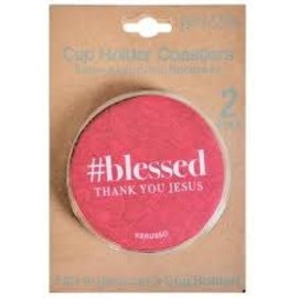 Cup Holder Coaster - Blessed