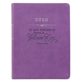 2020 Daily Planner - In His Presence, Purple LuxLeather