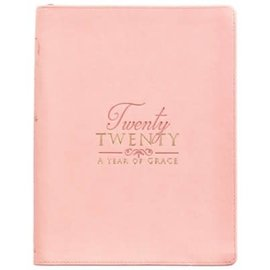 2020 Planner - A Year of Grace, Large Salmon LuxLeather w/Zipper