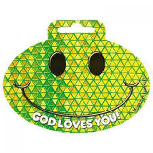 Bumper Sticker - Smile, God loves you!