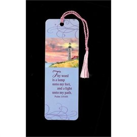Bookmark - Thy Word is a Lamp, Tassel