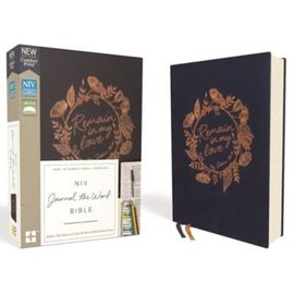 NIV Journal the Word Bible, Navy Cloth over Board