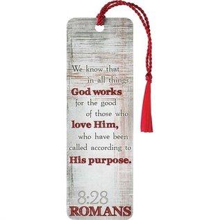 Bookmark - Romans 8:28, Tassel