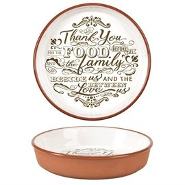 Pie Plate - Thank You for the Food