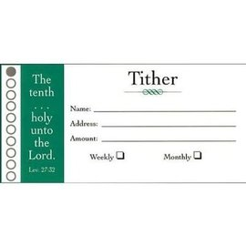 "Offering Envelope - 100 ""Tither"", Bill size"