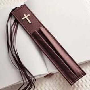 Bookmark with Two Pen Holders, Purple