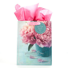 Gift Bag - Amazing Grace, Pink/Blue Medium