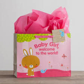 Gift Bag - Baby Girl, Large
