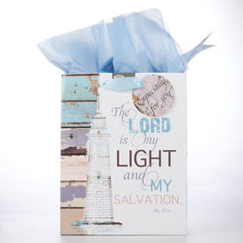 Gift Bag - The Lord is my Light and Salvation, Medium