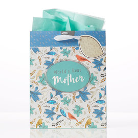Gift Bag - World's Best Mother, Medium