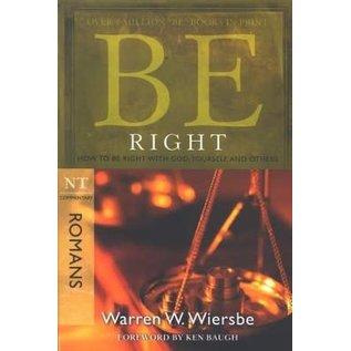 BE Right: Romans (Warren Wiersbe), Paperback