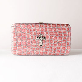 Wallet - Croc with Cross, Pink