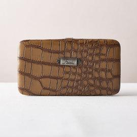 Wallet - Croc, Tan