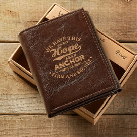 Men's Wallet - Hope as an Anchor, Tri-fold