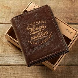 Men's Wallet - Hope as an Anchor, Tri-fold
