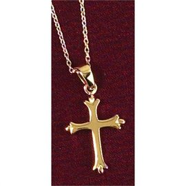 "Necklace - 18"" Cross, Gold"