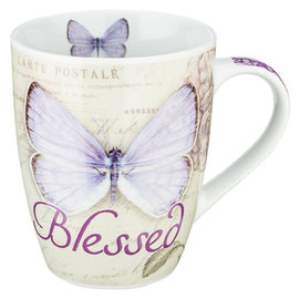 Mug - Blessed, Purple Butterfly