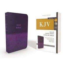 KJV Large Print Thinline Bible, Purple Leathersoft