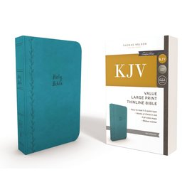 KJV Large Print Thinline Bible, Teal Leathersoft